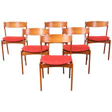 erik buck 49 teak dining chairs for o d mobler