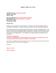 Thank You Letter Intern Cover Letter Example