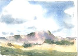 clouds mountains rocks painting mountainscape copyright 2018 watercolor painting lessons