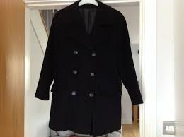 debenhams nuage las black wool cashmere size 12 coat