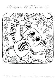 Spider Monkey Coloring Pages Monkey Coloring Pages Printable Monkey