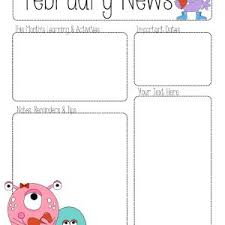 february newsletter template december newsletter templates for teachers archives foodfash co