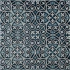 6X6 Decorative Ceramic Tile Filigree A 600x600 Pratt Larson 12