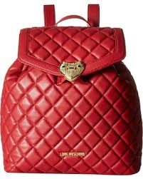 Hot Spring Bargains on LOVE Moschino - Quilted Knapsack (Red ... & LOVE Moschino - Quilted Knapsack (Red) Backpack Bags Adamdwight.com