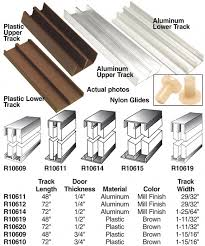 woodworker com these tracks make wooden bypass sliding doors easy to install 4 track assembly 34 brown plastic
