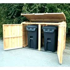 outdoor trash can storage shed garbage designs intended ideas plans outside id