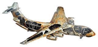 iron 3d airplane wall décor