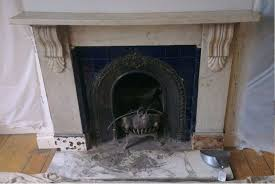 restoration of a victorian marble surround and cast iron arched insert ed in east dulwich se22
