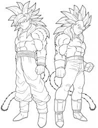 Small Picture Coloring Download Goku And Vegeta Coloring Pages Goku Vs Vegeta