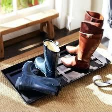 Square Boot Tray Pottery Barn Blacksmith Boot Tray . Square Boot Tray ...