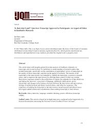 Dissertation Interview Transcript Example Transcription Service Type