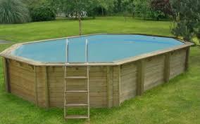 Wood Above Ground Swimming Pools Octo Luxury Fiberglass