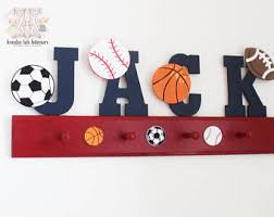 Sports Coat Rack Sports Coat Rack Sports Nursery Decor Kids Sports Room 58