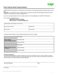 How To Fill Out Direct Deposit Form Sage Direct Deposit Form Ohye Mcpgroup Co