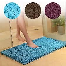 soft microfiber gy non slip absorbent bath mat bathroom shower rugs carpet