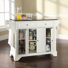 White Kitchen Cart With Granite Top Kitchen Carts Kitchen Island Ideas With Seating Solid Wood Top