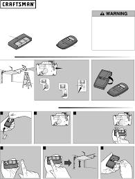 garage door opener 3 function visor remote control