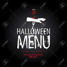 Halloween Menu Design Halloween Menu Card Design Template