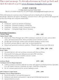 Senior Bank Teller Resume Bank Teller Resume Unique Resume For Bank Teller