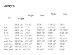 Skate Sizing Chart For Toddlers Jerrys Skating Apparel Size Chart Skaters Landing