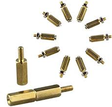 ILS - 5SETS DIY 11MM Hex Brass Cylinder + Screw + ... - Amazon.com