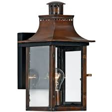 quoizel lighting outdoor wall light with clear glass in aged copper finish cm8408ac hover or to zoom