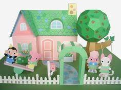 Dollhouse Furniture Printable Paper Craft PDF $4 00 via Etsy