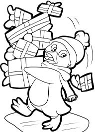 Christmas Penguin Coloring Sheets Pages Kids 13198 Francofestnet