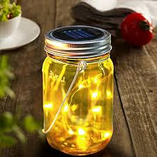 Decorative Jars With Lids BRIGHT ZEAL Solar LED Decorative Jars With Lids And Starry LED 86