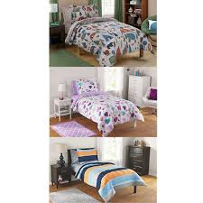details about dcp kids bed in a bag complete set twin full rugby stripe plaid hearts