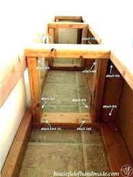 kitchen nooks with storage benches breakfast nook bench plans plan