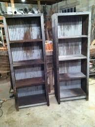 tin furniture. Barn Wood And Corrugated Metal Book Shelves Barnwood Furniture Tin I