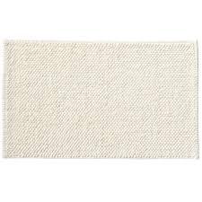 indian cotton chenille bath mat s off white