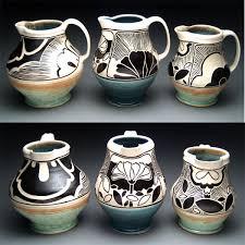 Decorative Pitchers decorative pitchers Rachel DePauw sgraffito art nouveau pottery 67