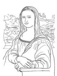 31 Mona Lisa Coloring Page Mona Lisa Worksheet Resume Simple Templates
