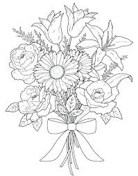 Flower Coloring Pages Online Intricate Flower Coloring Pages