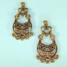chandelier earring components whole 4 chandelier earring parts hearts flowers findings jointed components 2 pair gold chandelier earring components