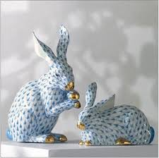 Rabbit Decorative Accessories Herend Porcelain Bunnies traditional accessories and decor 44