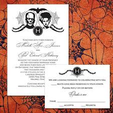 Halloween Wedding Invitations Custom Frankenstein Halloween Wedding Invitations 2048407 Weddbook