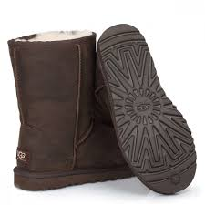 ugg womens classic short leather brownstone boots zoom