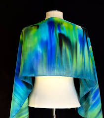 silk scarf hand painted abstract design in by fantasticpheasant 40 00