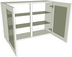 glazed double kitchen wall unit