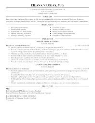 Medical Resume Template Physician Resume Sample Resume Candidate