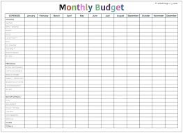 Free Budget Printable Template Free Printable Monthly Budget