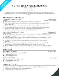 Emergency Room Nurse Resume Template Resume Template For Nursing Amartyasen Co