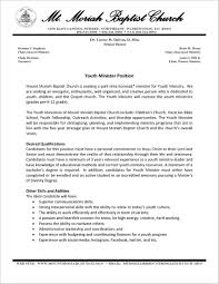 Sample Ministry Resume And Cover Letter Cover Letter Resume