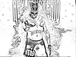 Wwe Cartoon Rey Mysterio Coloring Pages Collection 3 A 9