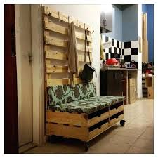 large industrial style changing room hallway bench and coat shoe rack