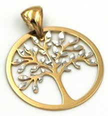 tree of life pendant in 18k gold