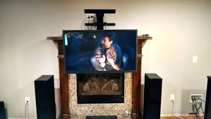 E Fireplace Tv Mount Pull Down Above And Out  Over Uk